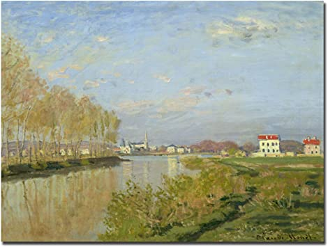 Seine shores at Vétheuil by Claude Monet Giclee Fine Art Print Repro on Canvas