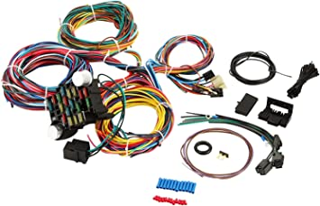 amazon.com: 21 circuit universal extra long wiring wire harness kit for  chevy mopar ford jeep hotrods: automotive  amazon.com