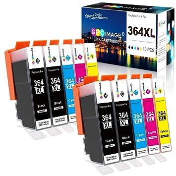 GPC Image 364XL (paquete de 10) cartuchos de tinta compatibles ...