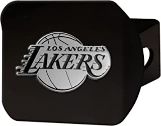 product image for NBA - Los Angeles Lakers Black Metal Hitch Cover