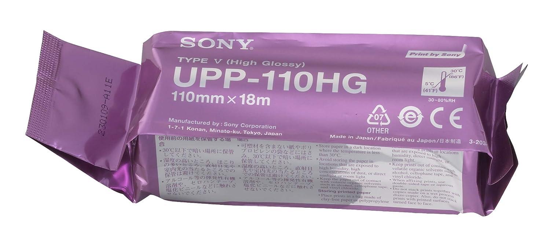 SONY UPP110HG Rollos de papel térmico de alto brillo para ...