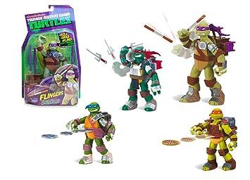 Tortugas Ninja - Figura con Armas, 4 Modelos, 14 cm (Giochi Preziosi 91100)