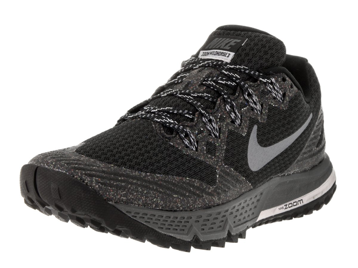 Nike Women's Air Zoom Wildhorse 3 Black/Dark Grey WLF Gry Cl Gry Running Shoe 6 Women US by NIKE