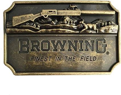 Browning Buckmark Belt Buckle Pewter Color Deer Country Hunting Fishing