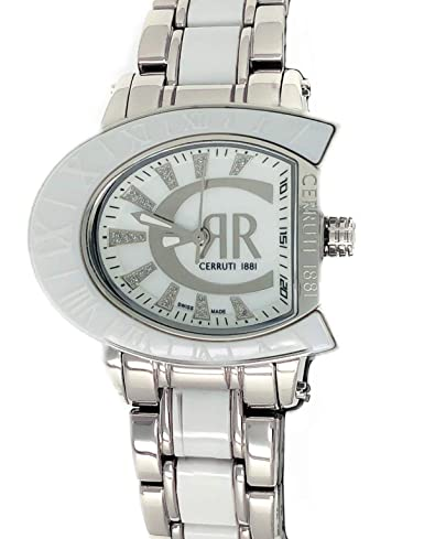 f8e1cedacd Amazon.com: Cerruti 1881 Ladies Logo Watch Two Tone Silver with ...