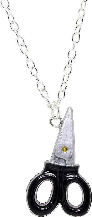 Bluebubble, collar con caja de regalo para coser (tijeras para hacer vestidos, color negro y plata): Amazon.es: Joyería