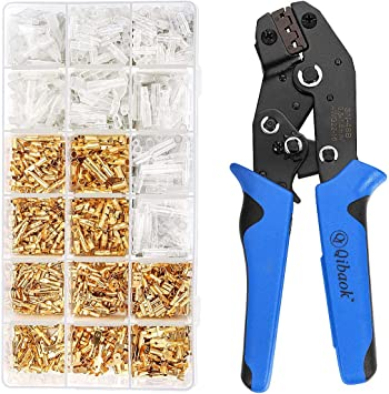 Insulated Wire Cable Connectors Terminal Ratcheting Crimper Tool Kit Pliers US