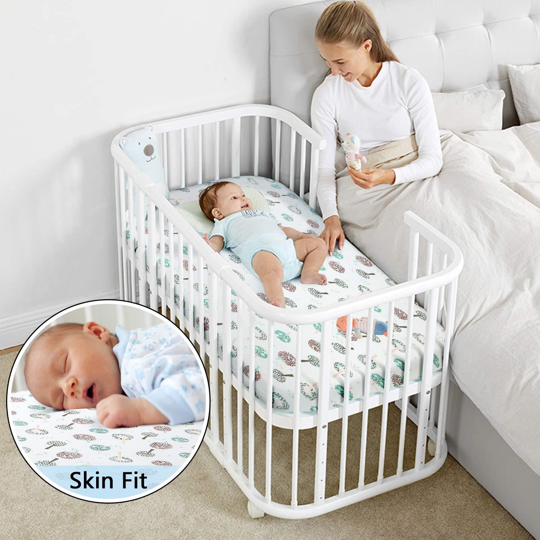 27 x 39 x 4 Spannbettlaken f/ür Babybett Kinderbett Kinder und Baby Spannbetttuch//Bettlaken in Baumwolle f/ür M/ädchen und Jungen