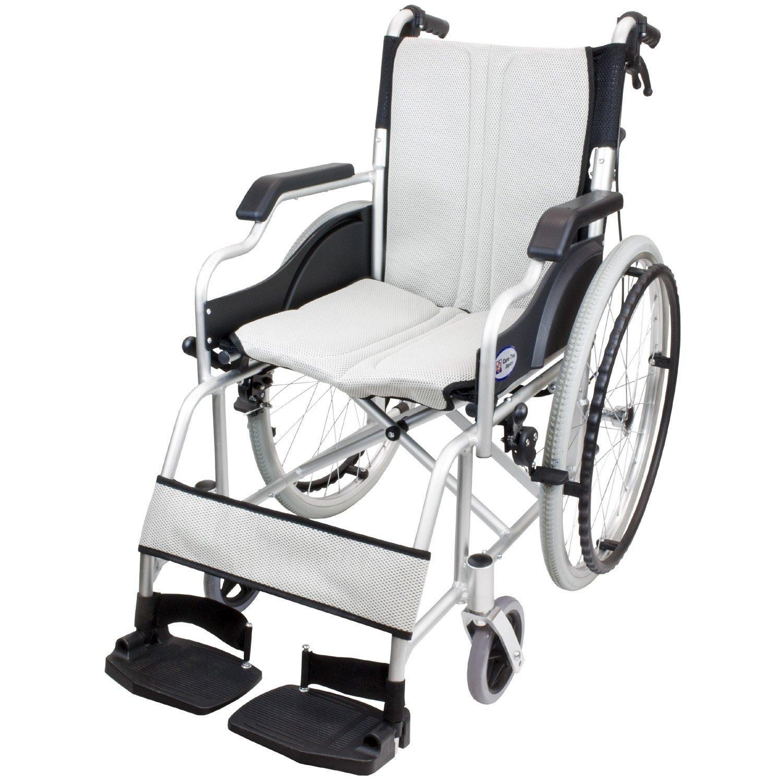 ケアテックジャパン 自走式車椅子 ハピネスコンパクト CA-10SUC (シルバー) B079T6YXX7 シルバー シルバー