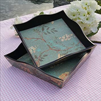 Bandeja antigua cuadrada rústica Casa madera Frutero fruit bowl bandeja almacenamiento , 23*23*