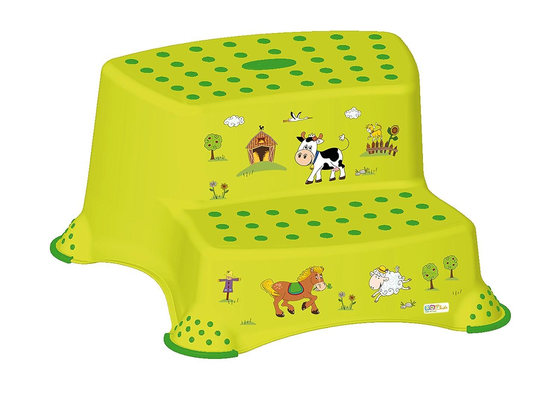 2er Set Z Funny Farm grün WC Aufsatz + Hocker zweistufig Toilettentrainer OKT Kids