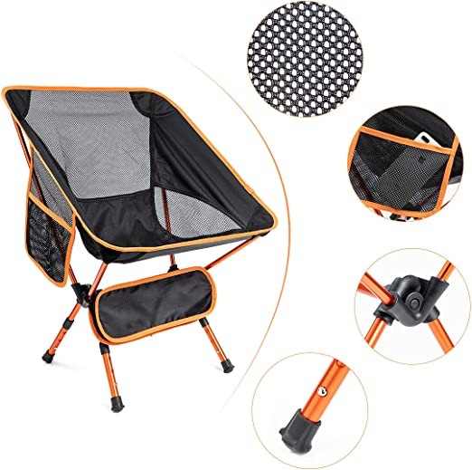 JOUDOO Folding Camping Chair with Carry Bag for Hiking Camping HW001