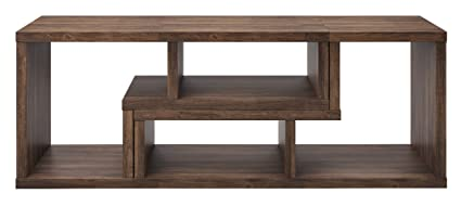 Adjustable Moveable Brown Walnut Low Profile Living Room TV Stand Console  with Storage Shelves