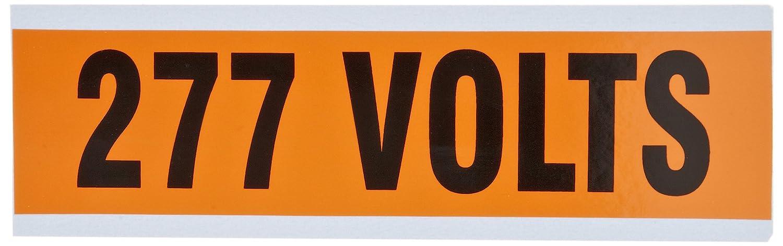 277V Legend Morris Products 21336 Voltage Marker Pack of 5 Cards, with 1 Marker Per Card