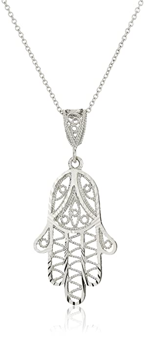 home silver pendant sterling necklace hamsa