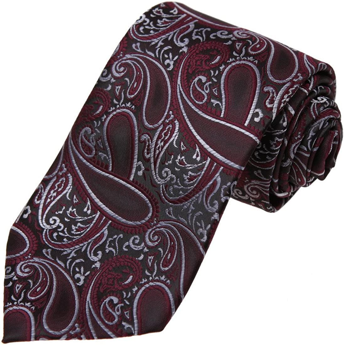 Dan Smith Men's Fashion Suppliers Patterned Microfiber Necktie With Free Gift Box Neck Tie