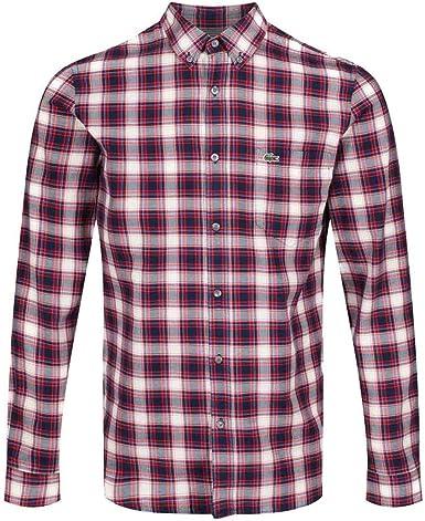 Lacoste Camisa CH0025 Cuadros Rojo Hombre 40 Rojo: Amazon.es: Ropa y accesorios