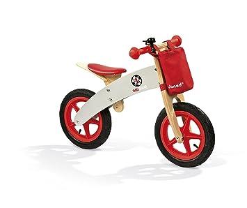 Grisj03240 De Y Bicicleta Janod Bikloon Sin Pedales MaderaRojo xrdCBoe