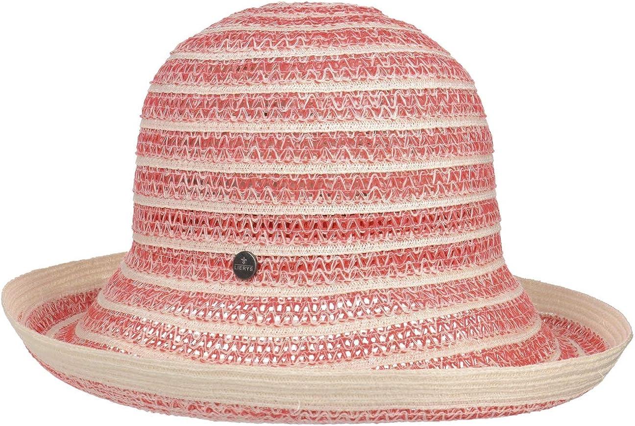 Lierys Sombrero de Cañamo y Lino Rojana Mujer - Made in Italy algodón Tela Primavera/Verano
