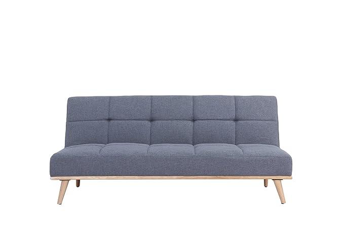 Sofá-cama estilo escandinavo convertible, tejido gris ...