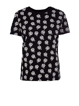2f3b208b97 Kenzo Femme F952TS79399099 Noir Coton T-Shirt: Amazon.fr: Vêtements ...