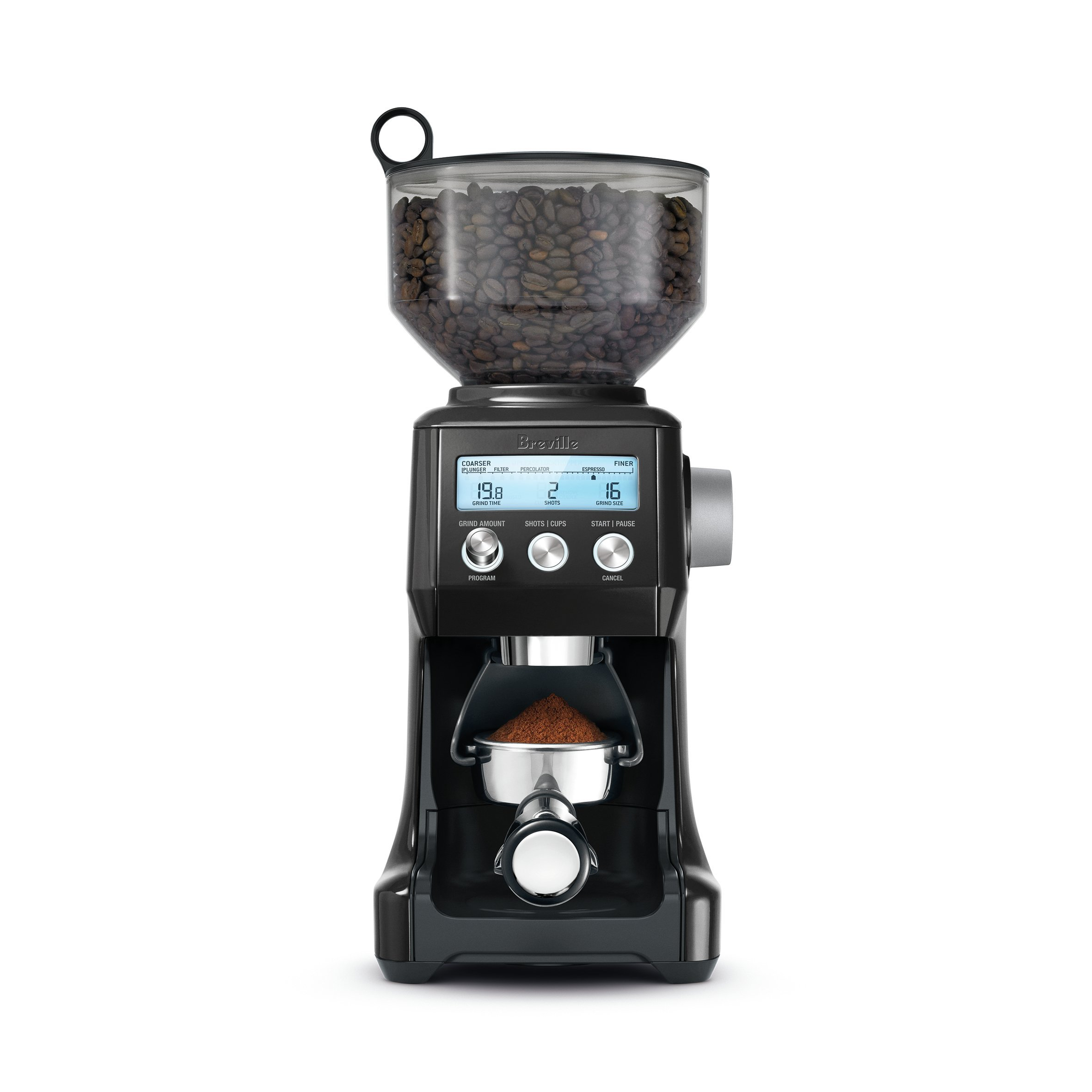 Breville BCG820BKSXL The Smart Grinder Pro Coffee Bean Grinder, Sesame Black (Renewed) by Breville