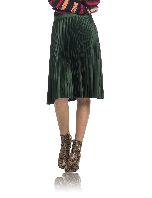 Maison Scotch Damen Rock Knee Length Pleated Skirt