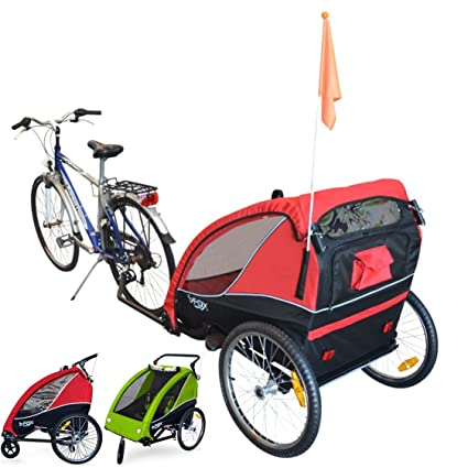 PAPILIOSHOP B-FOX Remolque carrito para transporte uno dos niños silla de paseo (rojo