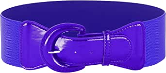 GRACE KARIN Women's Wide Stretchy Cinch Belt Vintage Chunky Buckle Belts