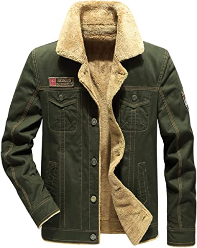 SHOWNO Mens Casual Long Sleeve Warm Fall /& Winter Corduroy Fleece Slim Fit Dress Shirts