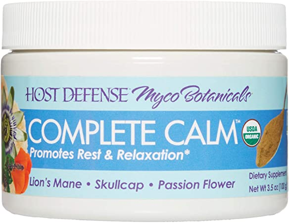 Host Defense, MycoBotanicals Complete Calm Powder, Sleep and Relaxation Support with Superfood Mushroom Mycelium