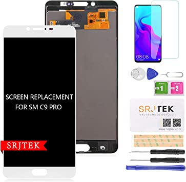 srjtek TFT Pantalla LCD de Repuesto para Samsung Galaxy C9 Pro 2016/2017 C9000 C900F/DS C900Y/DS 6.0