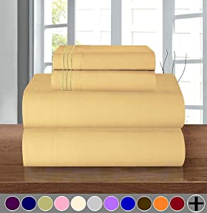 1500 Thread Count Egyptian Quality 4 pc Sheet set, Deep Pocket Up to 16
