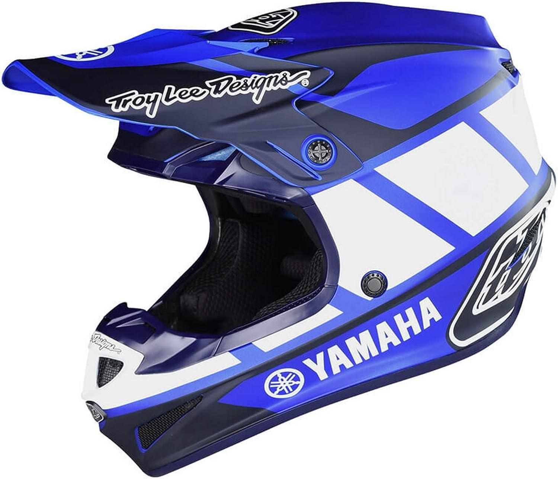 Troy Lee Designs Se4 Polyacrylite Yamaha Rs1 Casco de moto para jóvenes, L, Azul