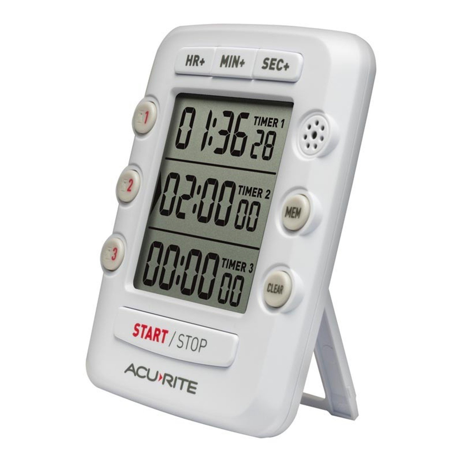 00482, Triple Event Digital Kitchen Timer with Jumbo Display