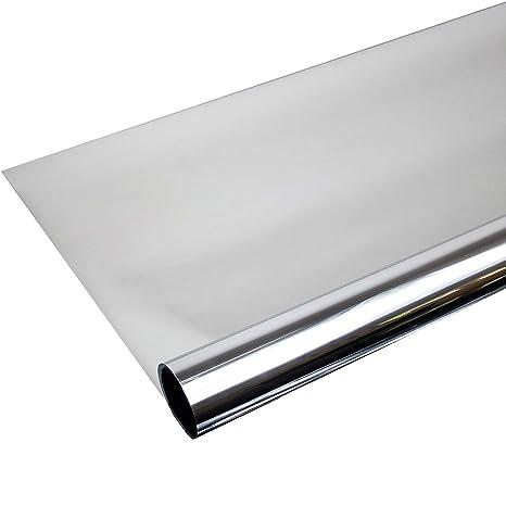 Solar Screen Fenster Folien Set Selbstklebende Spiegelfolie Silber 152cm Breite Folie Fensterfolie