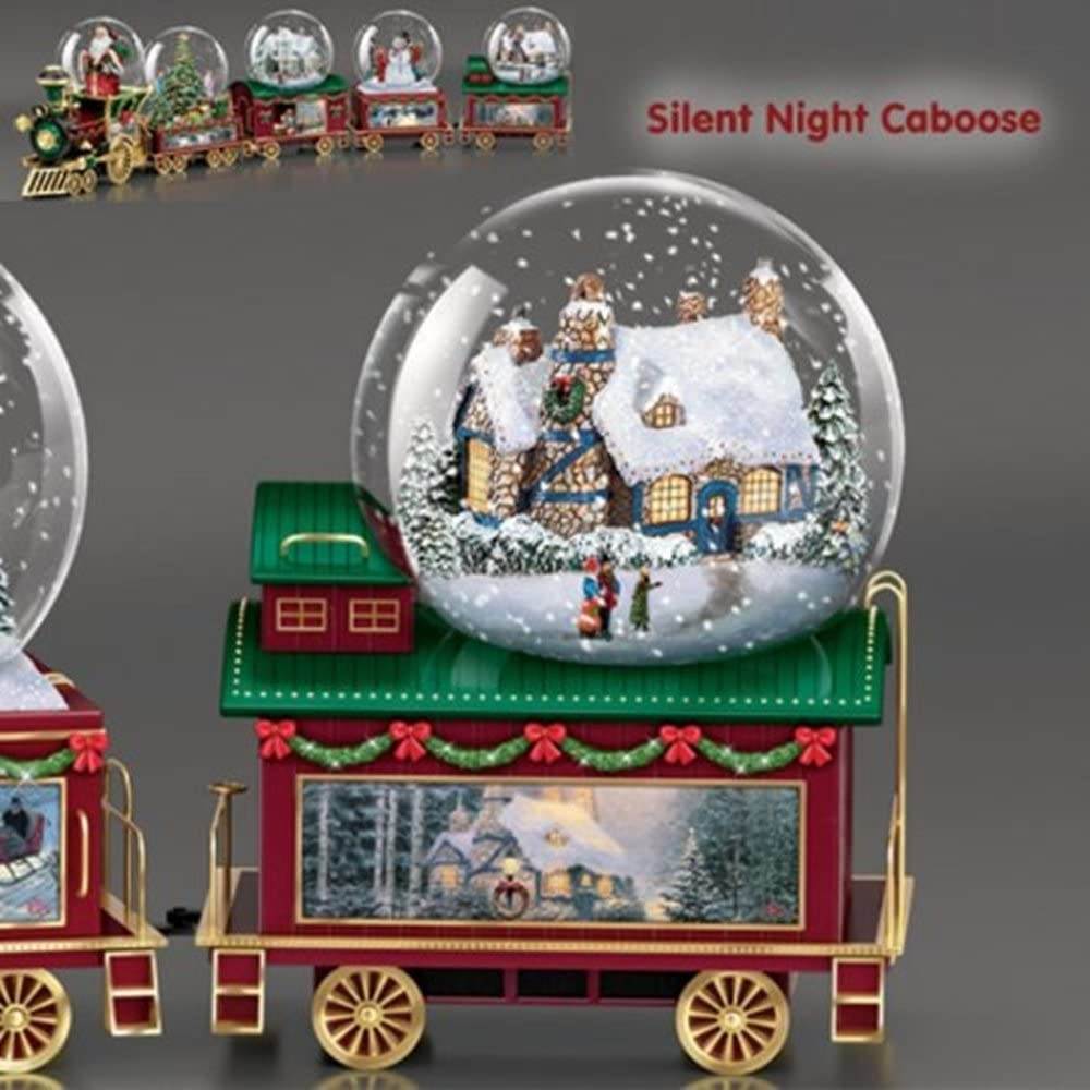 THOMAS KINKADE Slient Night Caboose Wonderland Express  Snow Globe TRAIN #5 NEW