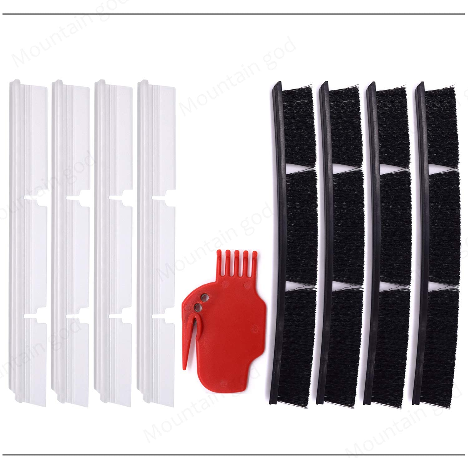 Mountain god Replacement Brush Bar Parts Kit - 4 Blade Brush Bars 4 Bristle Bar 1 Brush Cleaning Tool for Neato BotVac D Series - Vacuum Cleaner Blade Combo Brushes Bar Replenishment Accessory
