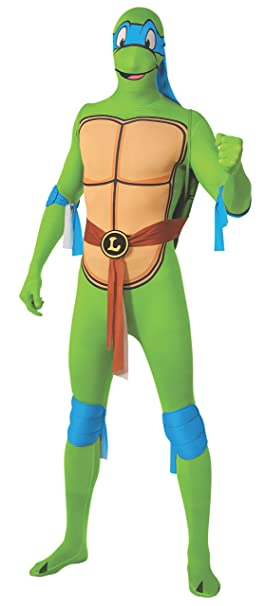 Rubies Mens Leonardo 2Nd Skin Adult Costume with Removable Shell, Multi, Large