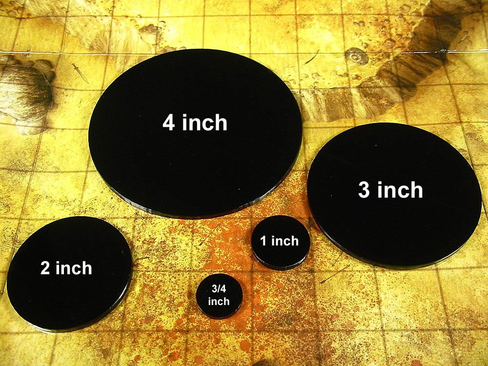 Litko Game Accessories RPG Bases 3 Inch Circular Huge Figure Size 1