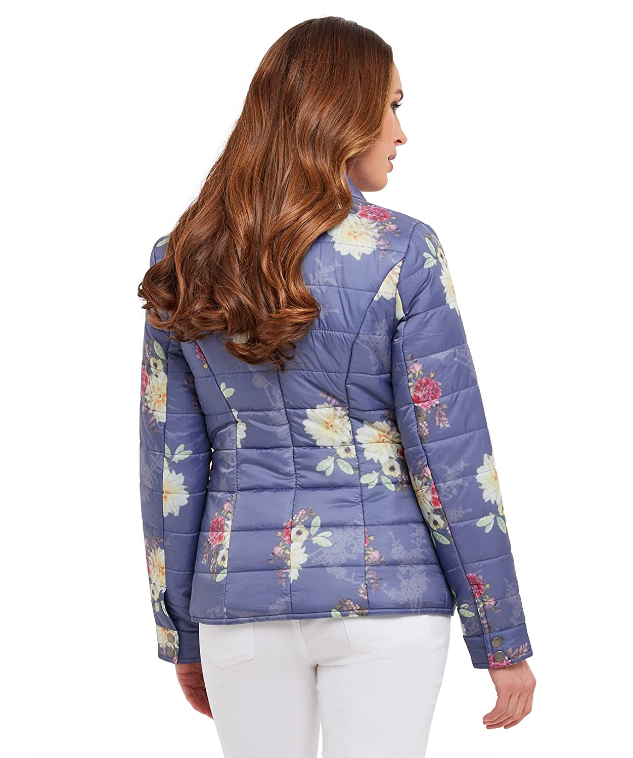 Joe Browns Womens Zip Up Floral Quilted Jacket