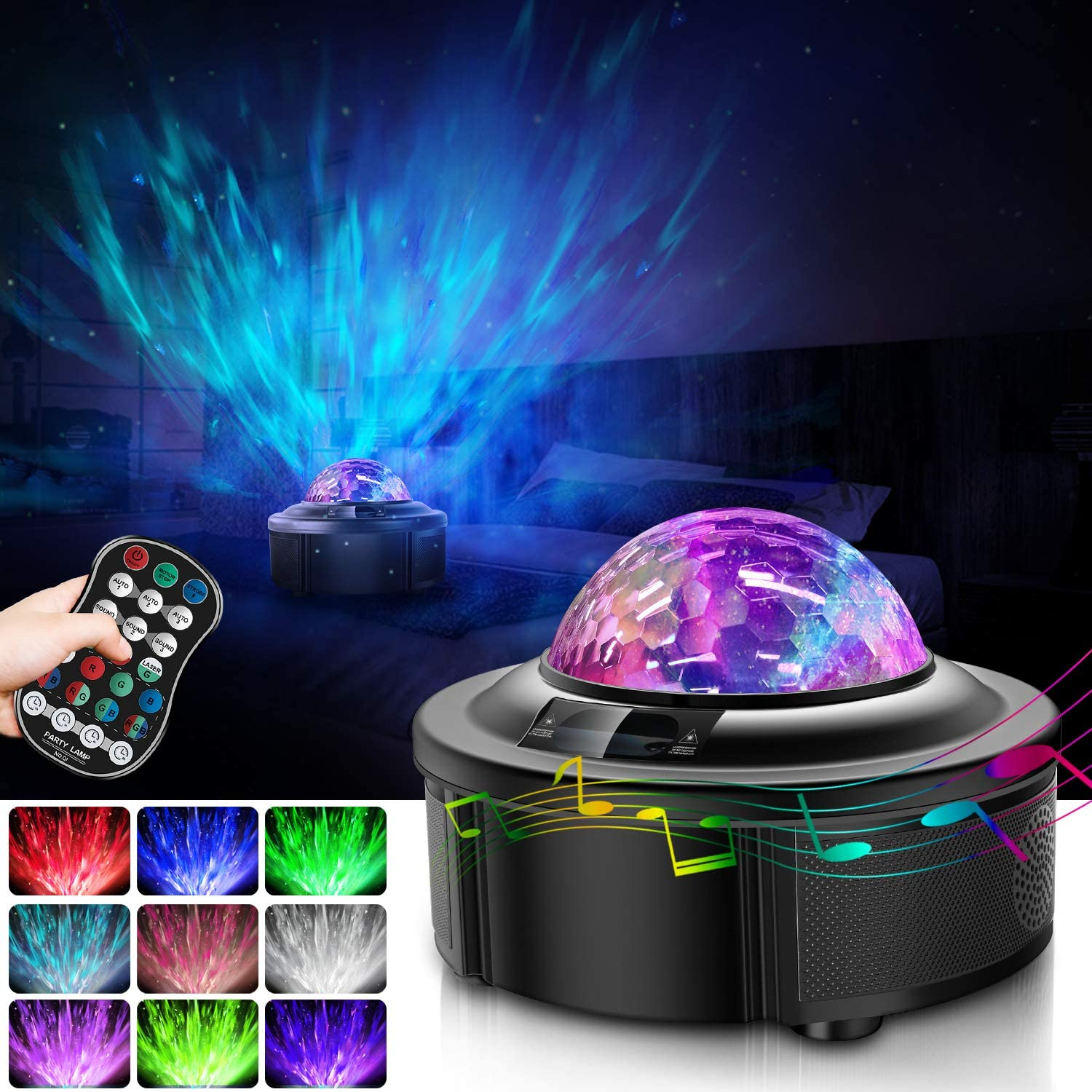 Galaxy Projector Suitable for Romantic Gifts Led Night Light Star Projector HOKEKI Lights for Bedroom Starlight Projector,with Bluetooth Speaker Can Remote Control Adjust Brightness