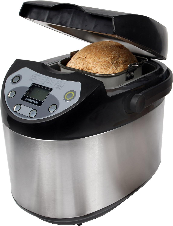 Inventum Breadmaker BM90, Negro, Plata, 600 W, 350 x 270 x 330 mm ...