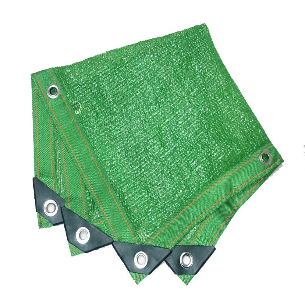QIANGDA オーニング シェード遮光ネットグリーン ガーデンシェードネット シャドウグリッド 長持ちする日焼け止め 臭いがない アンチエイジング 風の抵抗 折りたたみが簡単 バルコニー、 マルチサイズ オプション (サイズ さいず : 6 x 8m) B07DW3H2XW 6 x 8m  6 x 8m