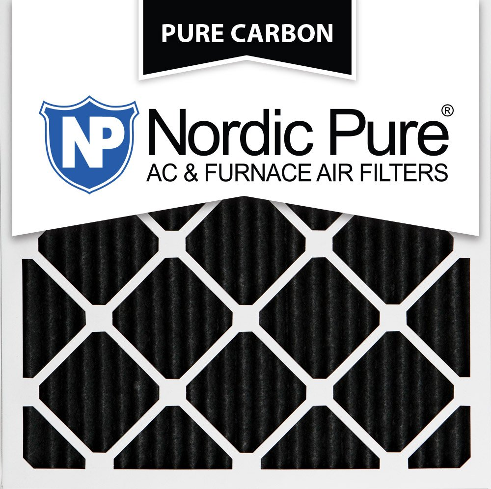 Nordic Pure 25x25x1PCP-3 25x25x1 Pure Carbon Pleated Ac Furnace Filters Qty 3