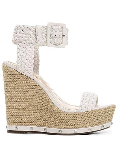 64335c143a2 Amazon.com: SCHUTZ Gazania Pearl White Woven Braided Leather High ...