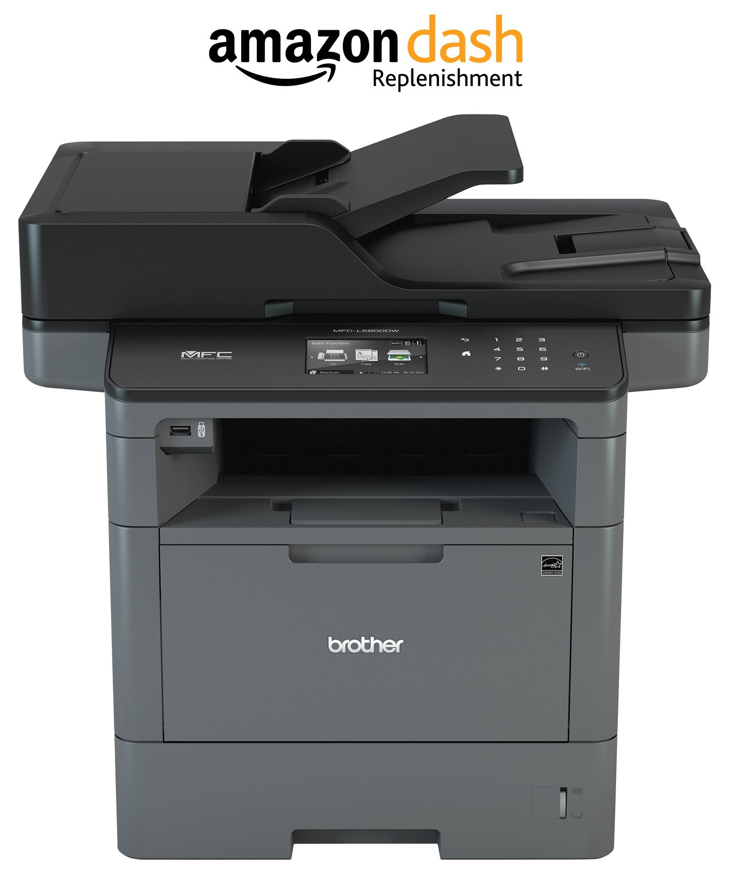 Brother MFCL5900DW Business Monochrome Laser : All-in-One with Advanced Duplex and Wireless Networking, Amazon Dash Replenishment Enabled