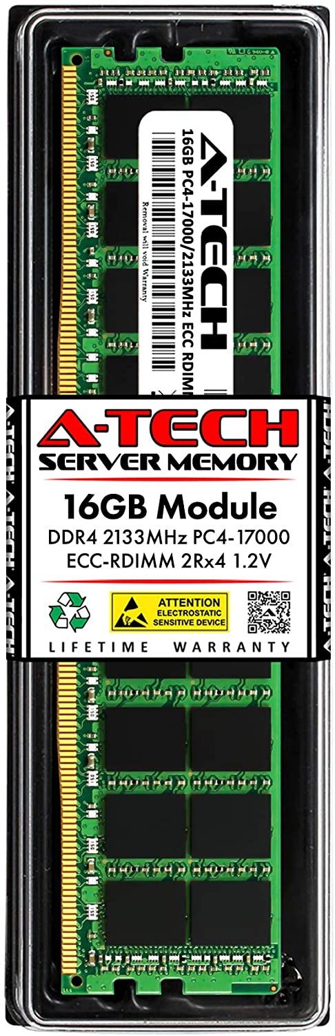 A-Tech 16GB Memory RAM for Dell Precision Workstation T7910 XL - DDR4 2133MHz PC4-17000 ECC Registered RDIMM 2Rx4 1.2V - Single Server Upgrade Module (Replacement for A7945660)