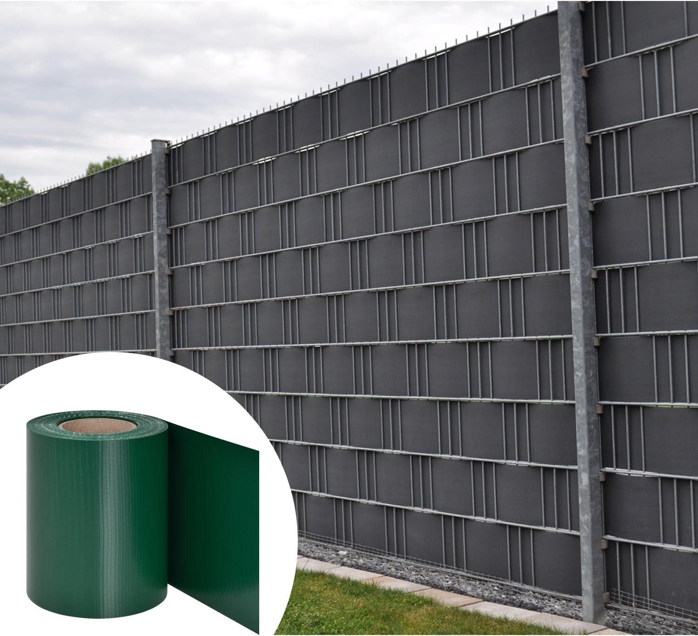 Amazon De Juskys Pvc Sichtschutzstreifen Doppelstabmatten Zaun