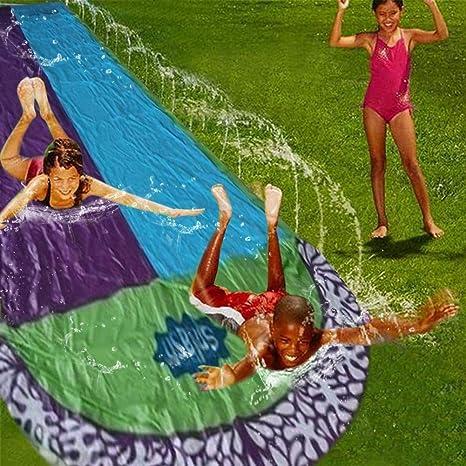NHAO Tobogán de Agua Juguete jardín resbaladilla de Agua para Carreras de 6.1 m Toboganes De Agua para Piscinas Pista Deslizante Infantil Juegos De Piscina En El Patio Trasero De Verano: Amazon.es: